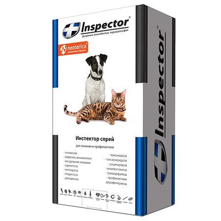 Спрей для кошек и собак от внешних и внутренних паразитов Inspector 100мл