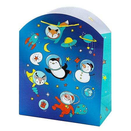 Пакет подарочный Феникс Презент Новый год 26*32.4*12.7см 140 г/м2 81086