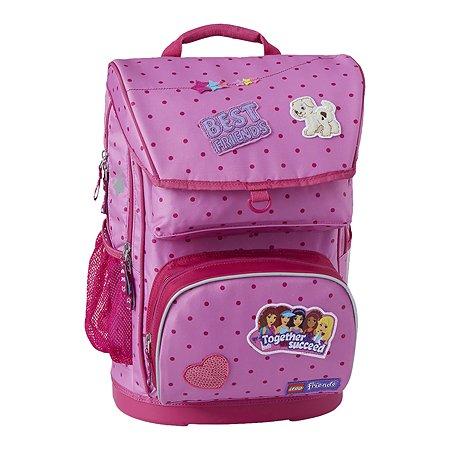 bdacd13137a1 Рюкзак школьный LEGO с сумкой для обуви ланчбоксом и бутылкой Friends  Patchwork