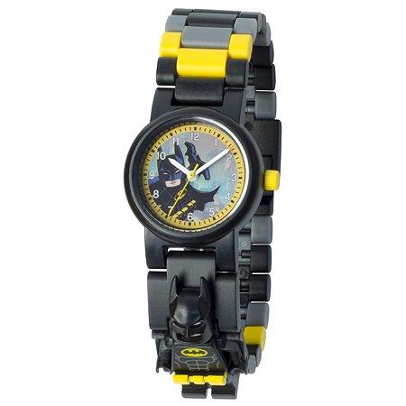 Аксессуар LEGO Batman Часы наручные аналоговые с минифигурой Бэтмен на ремешке 8020837