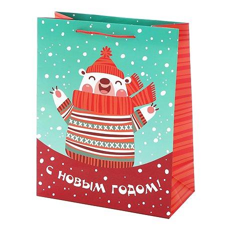 Пакет подарочный Феникс Презент Новый год 26*32.4*12.7см 140 г/м2 81087