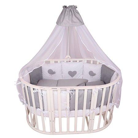 Комплект постельного белья AMARO BABY Малыш 7предметов Серый