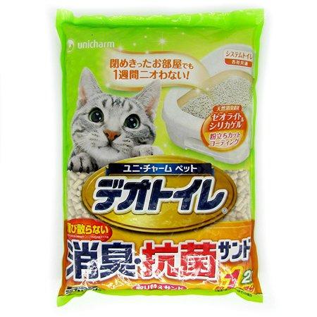Наполнитель для кошек Unicharm силикагелевый дезодорирующий 2л
