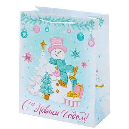 Пакет подарочный Феникс Презент Новый год 26*32.4*12.7см 140 г/м2 81088