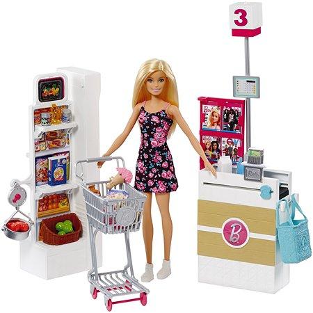 Набор игровой Barbie Супермаркет FRP01