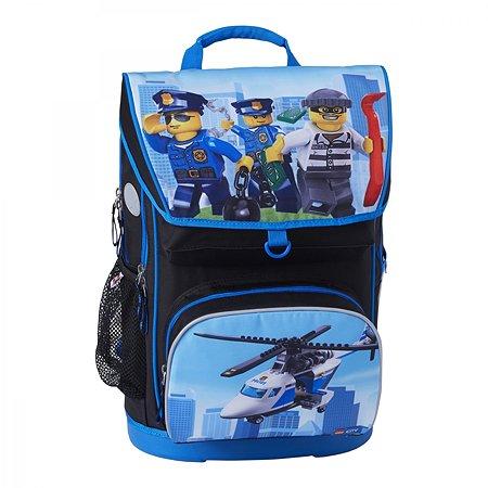 Рюкзак школьный LEGO с сумкой для обуви ланчбоксом и бутылкой City Polie chopper