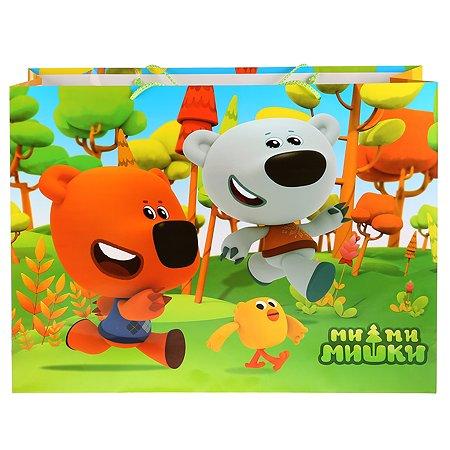 Пакет Играем вместе Веселый праздник Мимимишки глянцевый подарочный