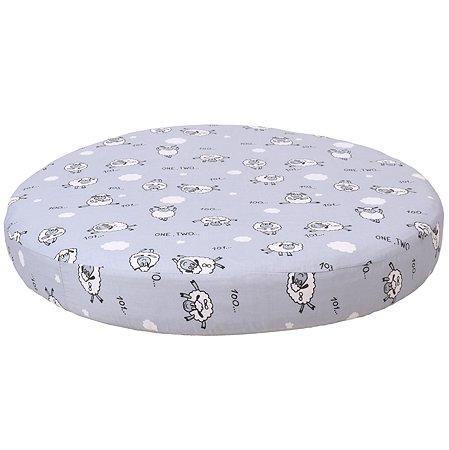 Простыня AMARO BABY Mild design edition Засыпайка круглая на резинке Серый