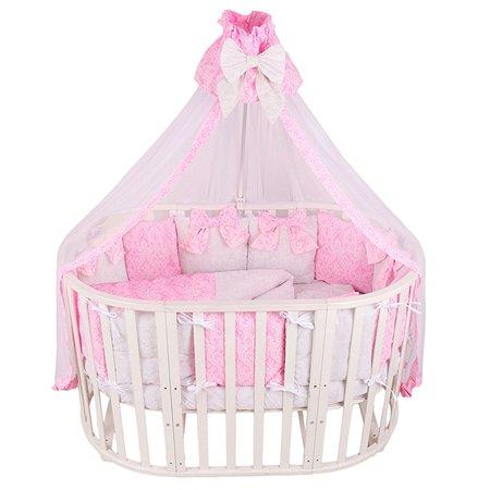 Комплект постельного белья AMARO BABY Люкс 7предметов Розовый