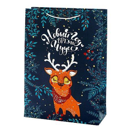 Пакет подарочный Феникс Презент Новый год 33*45.7*12.7см 140 г/м2 81092