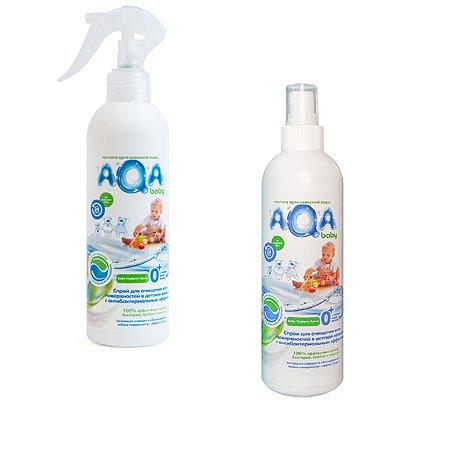 Спрей для очищения всех поверхностей AQA baby с антибактериальным эффектом 300мл с 0месяцев в ассортименте