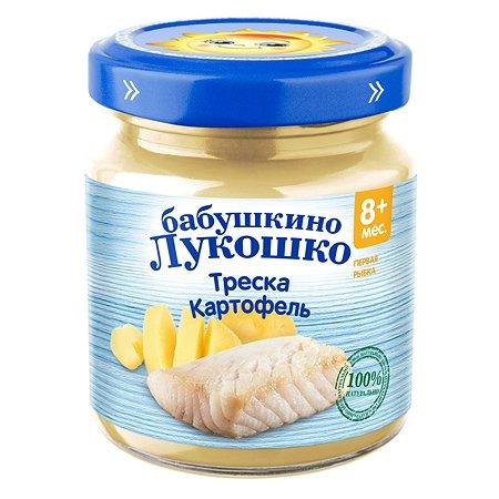 Пюре Бабушкино лукошко треска-картофель для детей с 8 месяцев 100 г