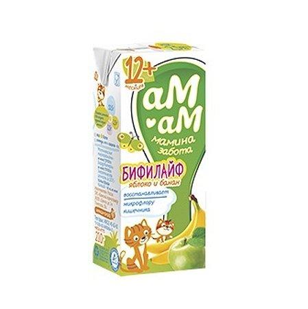 Бифилайф Ам-Ам яблоко-банан 2.5% 0.21л c 12месяцев