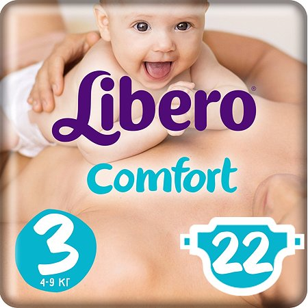 Подгузники Libero Comfort 3 4-9кг 22шт