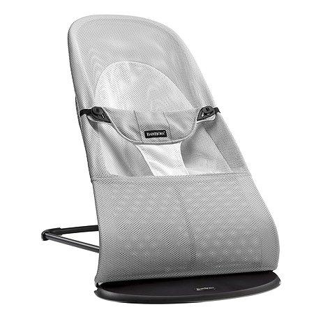 Кресло-шезлонг BabyBjorn Balance Soft Air сер/белый