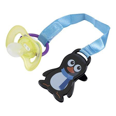 Прищепка для пустышки Мир Детства Пингвин уточка в ассортименте