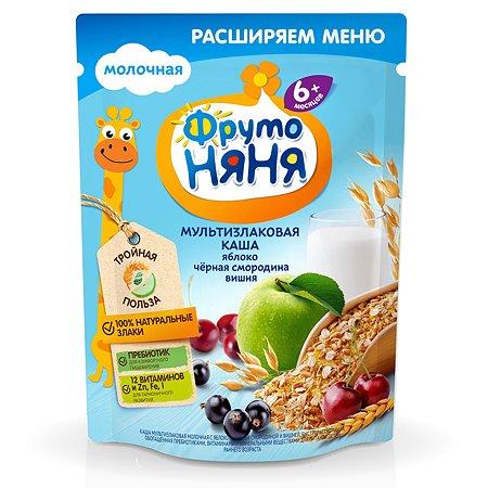 Каша ФрутоНяня молочная мультизлаковая с яблоком, смородиной и вишней 200 г с 6 месяцев