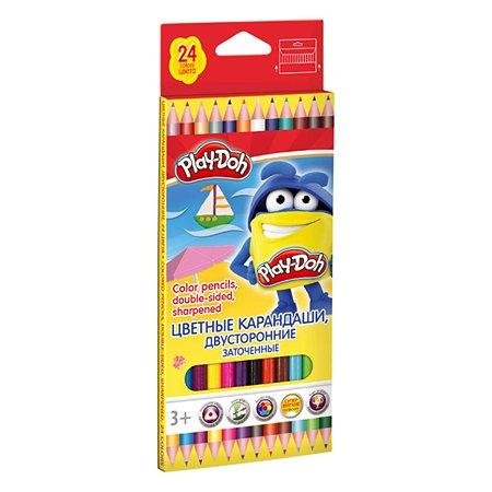 Цветные карандаши Kinderline двусторонние 12 шт.24 цв.Play-Doh