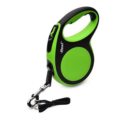 Рулетка Flexi New Comfort L лента 5м до 60кг Черный-Зеленый