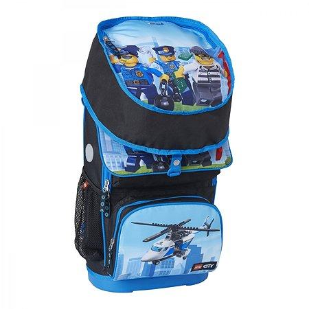 Рюкзак школьный LEGO с сумкой для обуви ланчбоксом и бутылкой City Police chopper