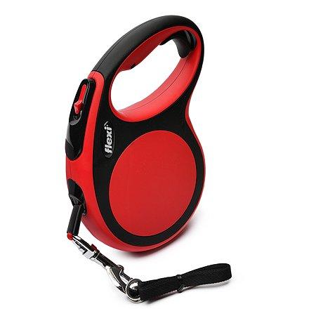 Рулетка Flexi New Comfort L лента 5м до 60кг Черный-Красный