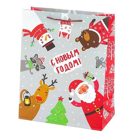 Пакет подарочный Феникс Презент Новый год 33*45.7*12.7см 140 г/м2 81096