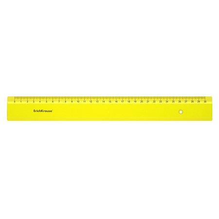 Линейка Erich Krause Neon 30см Желтый 49509