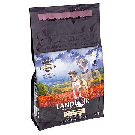 Корм для собак Landor беззерновой ягненок и батат 1кг