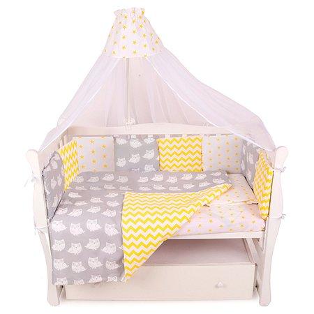 Бортик в кроватку AMARO BABY Птички 12подушек