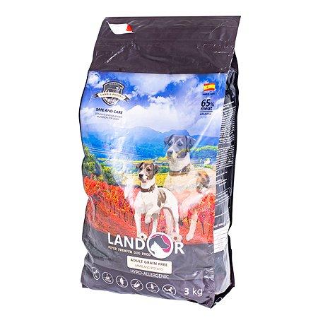 Корм для собак Landor беззерновой ягненок и батат 3кг