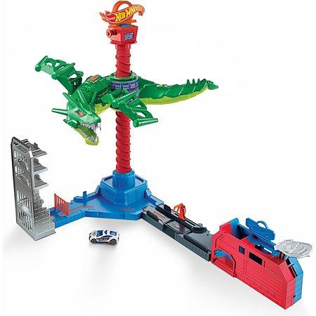 Набор игровой Hot Wheels Сити Воздушная атака дракона-робота GJL13