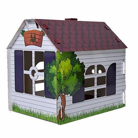 Домик MASKBRO улучшенный картонный для кошек и собак с когтеточкой MASKBRO
