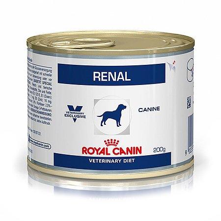 Корм для собак ROYAL CANIN Renal при почечной недостаточности консервированный 0.2кг