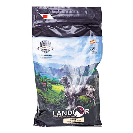 Корм для собак Landor ягненок с рисом 3кг