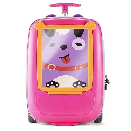 Чемодан BENBAT на колесах Розовый-Оранжевый GV425