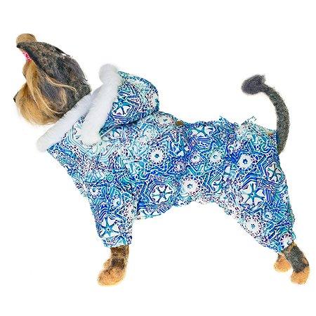 Комбинезон для собак Happy Puppy Зимние узоры мальчик 4 SHP-190004-4