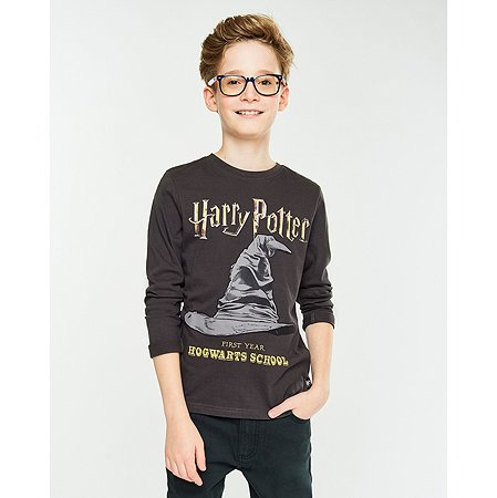 Футболка Harry Potter тёмно-серая