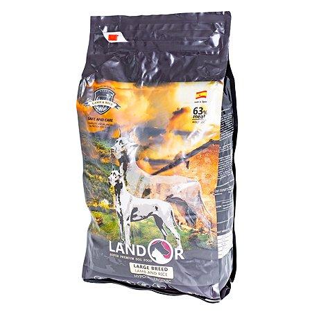 Корм для собак Landor крупных пород ягненок с рисом 3кг