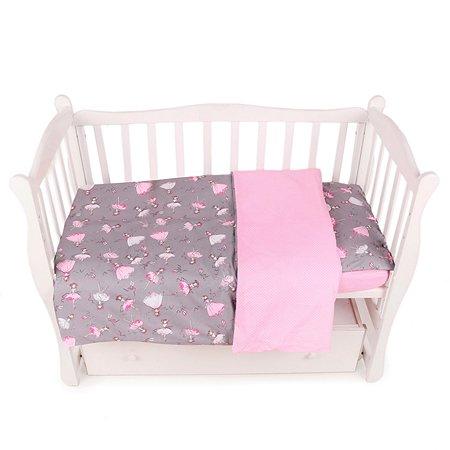 Комплект постельного белья AMARO BABY Fortuna Балет 3предмета Серый