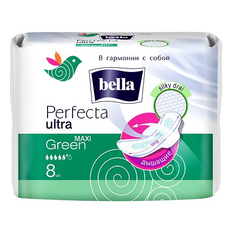 Прокладки гигиенические Bella Perfecta Maxi Green 8шт