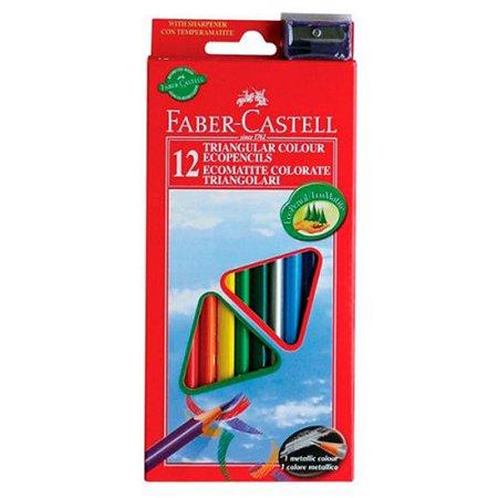 Карандаши цветные Faber Castell Eco с точилкой 12шт 120523