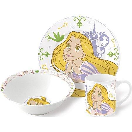 Набор керамической посуды STOR в подарочной упаковке Snack Set Rapunzel Princess (3 шт.)
