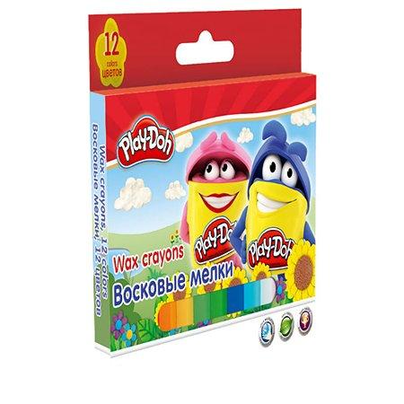 Мелки восковые Kinderline 12 цв.Play-Doh