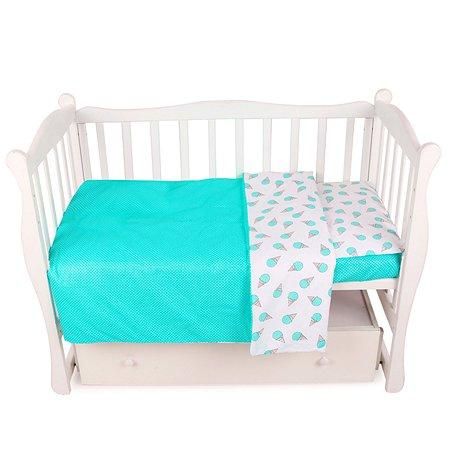Комплект постельного белья AMARO BABY Fortuna Сладость 3предмета Мята