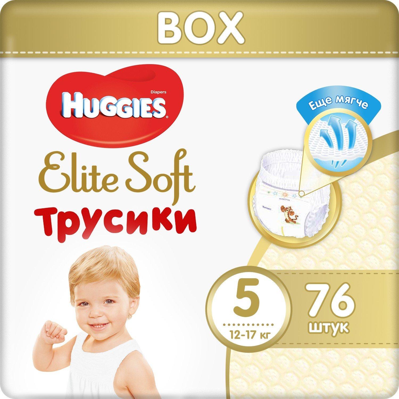 Подгузники-трусики Huggies Elite Soft 5 12-17кг 76шт