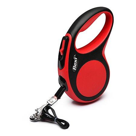 Рулетка Flexi New Comfort S лента 5м до 15кг Черный-Красный