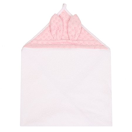 Полотенце AMARO BABY Soft Ears Collection с уголком Розовый