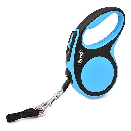 Рулетка Flexi New Comfort S лента 5м до 15кг Черный-Синий