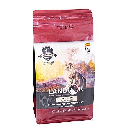 Корм для кошек Landor живущих в помещении утка с рисом 0.4кг