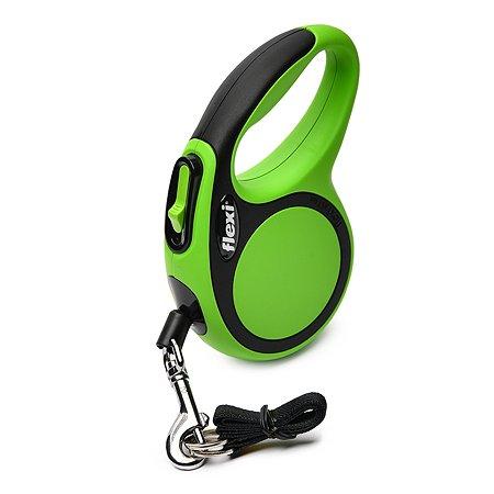 Рулетка Flexi New Comfort XS трос 3м до 8кг Черный-Зеленый